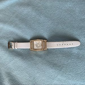 Gossip faux leather band watch